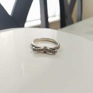 Pandora Sterling silver bow ring size 56 (7.5)